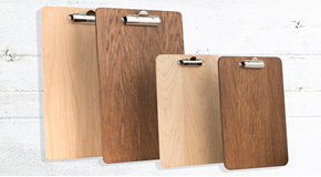 Wooden Fixed Clip Clipboards (Dark Oak)