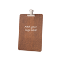 Image of Dark Oak Clipboard with Silver Clips