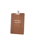 Image of Clipboard with Silver Clips (Dark Oak)