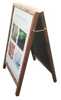 Image of Easy Change Wooden Poster Holder