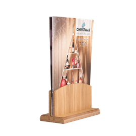 Image of Tall Wooden Menu Holder