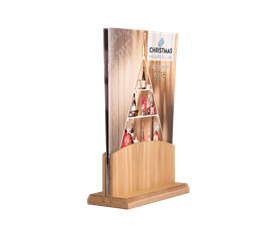 Image of Light Wooden Menu Holder