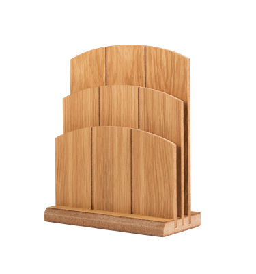 Image of Tiered Wooden Menu Holder