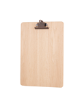 Image of Antique Bronze Metal Clip Clipboard (Natural)
