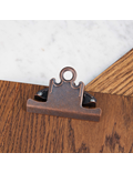 Image of Antique Bronze Metal Clip Wooden Clipboard (Dark Oak)