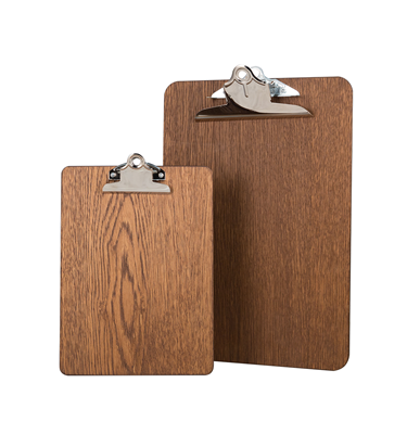 Image of Premium Wooden Clipboards (Dark Oak)
