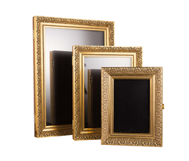 Image of Gold Ornate Framed Poster Holders