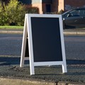 Image of White Wash A-Frame Chalkboard