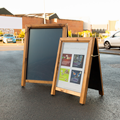Image of Poster Holder A-Board Chalkboard (Security)