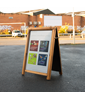 Image of Poster Holder A-Board (Security)