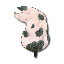 Image of Gloucester Old Spot Pig - Wall Hooks
