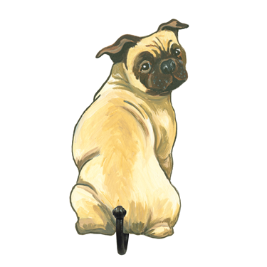 Image of Pug - Wall Hooks