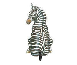 Image of Zebra - Wall Hooks
