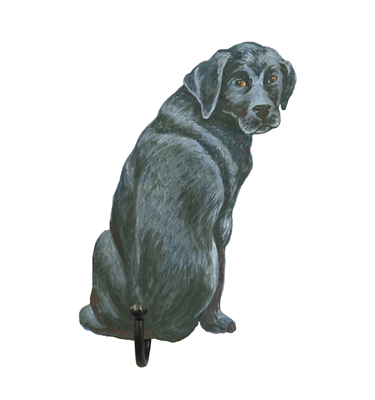 Image of Black Labrador - Wall Hooks