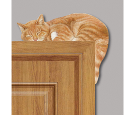 Image of Sleeping Cat - Corner Animal