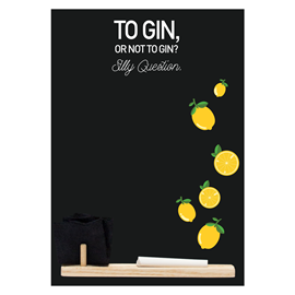 Image of Gin - Small Memo Chalkboard