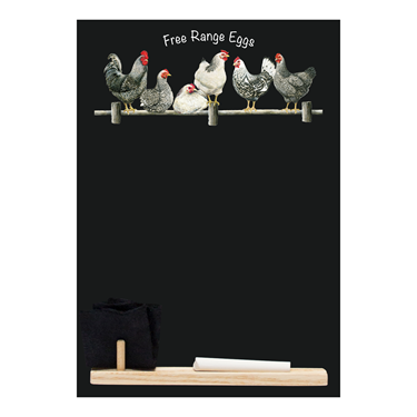 Image of Black & White Chickens - Small Memo Chalkboard