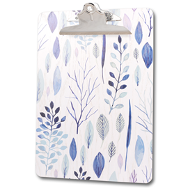 Image of Blue Leaf - A4 Printed Clipboard