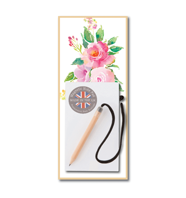 Image of Pink Flower - Magnetic Notepads