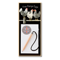 Image of Black & White Chickens - Magnetic Notepads
