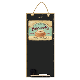 Image of Cappuccino - Tall Thin Chalkboard