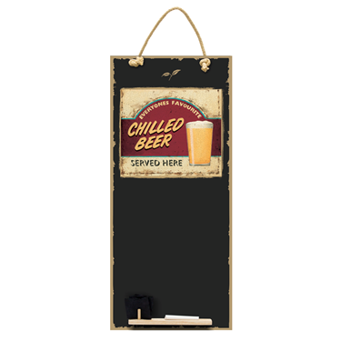 Image of Chilled Beer - Tall Thin Chalkboard