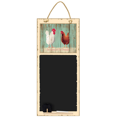 Image of Coq et Poule - Tall Thin Chalkboard