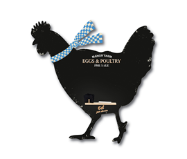 Image of Hen Shaped Chalkboard
