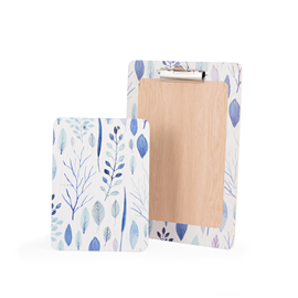 Image of Blue Leaf - Printed Clipboards