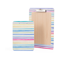 Image of Printed 'Stripes' Wooden Clipboards