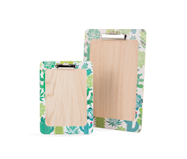 Image of Printed 'Cactus' Wooden Clipboards