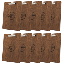 Image of Laser Engraved Clipboards - Dark Oak (Pack of 10)