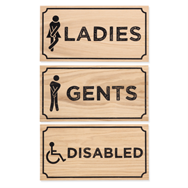 Image of Toilet Door Signage (Natural)
