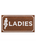 Image of Wooden Door Toilet Sign (Dark Oak)