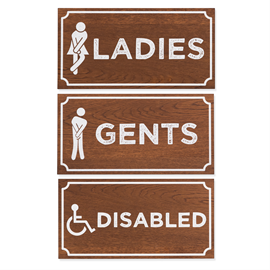 Image of Toilet Door Signage (Dark Oak)