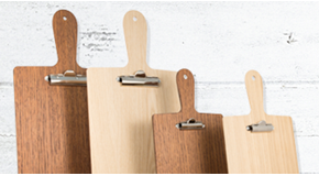Wooden Paddle Clipboards