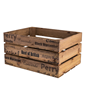 Image of Large Wooden Rustic Crate - Apples & Pears