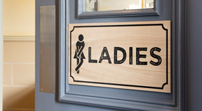 Toilet Door Signage (Natural)
