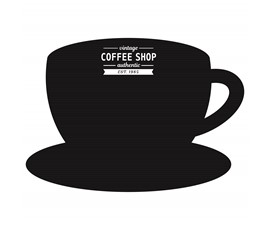 Image of Coffee Cup Shaped Chalkboard