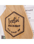 Image of Paddle Shaped Wooden Menu Holder