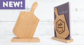 Paddle Shaped Wooden Menu Holder