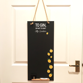 Image of Gin - Tall Thin Chalkboard