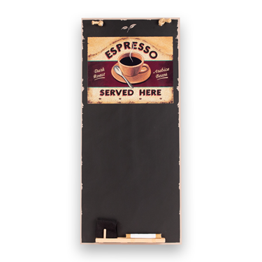 Image of Espresso - Tall Thin Chalkboard