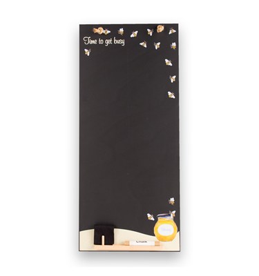 Image of Honey Bees - Tall Thin Chalkboard