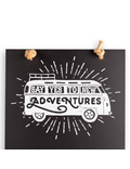 Image of Camper Van Adventures - Tall Thin Chalkboard