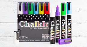 Chalk It Wet Wipe Liquid Chalk Pens - Pack of 6 - Assorted (6mm)