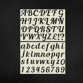 Image of Alphabet & Number Stencils - Upper & Lower Case Pack