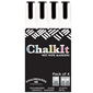 Image of Chalk It Wet Wipe Liquid Chalk Pens - Pack of 4 - White (6mm)