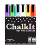 Image of Chalk It Wet Wipe Liquid Chalk Pens - Pack of 6 - Assorted (6mm)