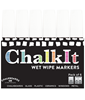 Image of Chalk It Wet Wipe Liquid Chalk Pens - Pack of 6 - White - (15mm)
